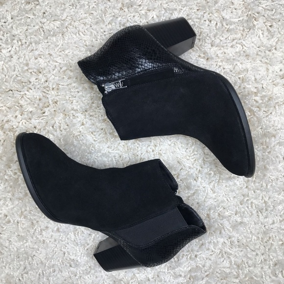 7603908ac2852 Vionic Shoes | Black Suede Anne Ankle Boots | Poshmark